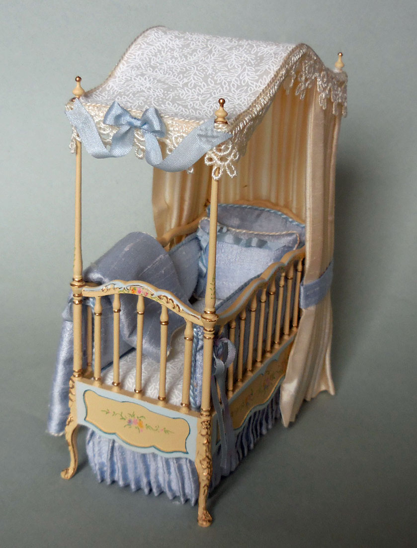 Quick View & IVORY CANOPY CRIB
