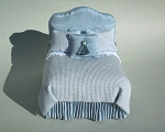 BLUE MOIRE BED
