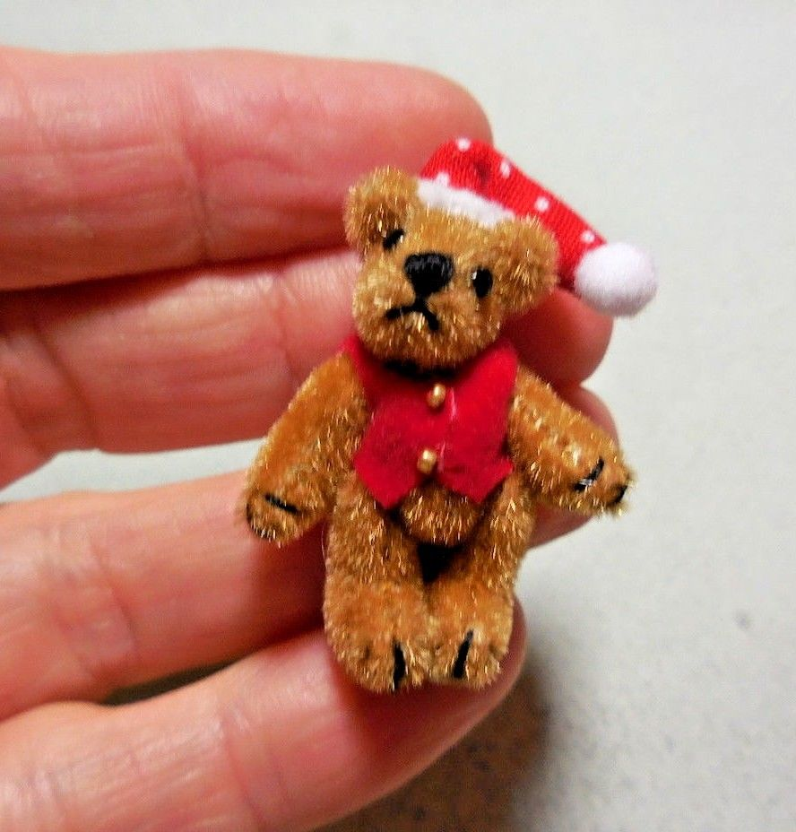 LITTLE  BEAR WITH A RED VEST & HAT