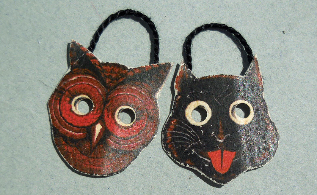 VINTAGE CAT & OWL MASKS