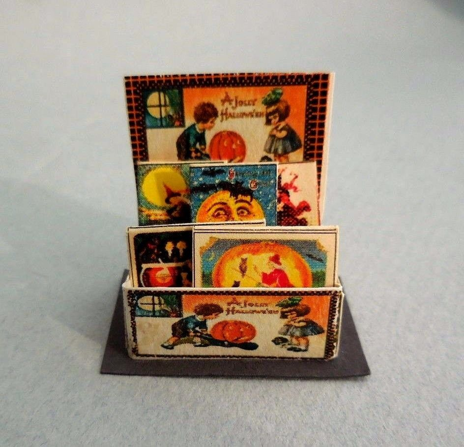HALLOWEEN  VINTAGE GREETING CARDS  COUNTER DISPLAY