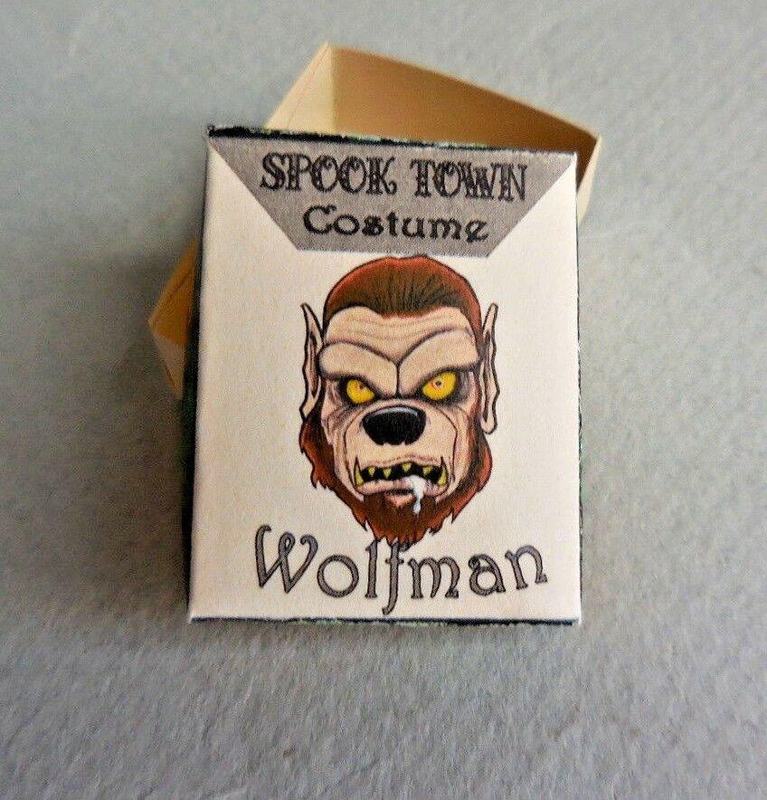 DOLLHOUSE MINIATURE ~ HALLOWEEN WOLF MAN COSTUME BOX