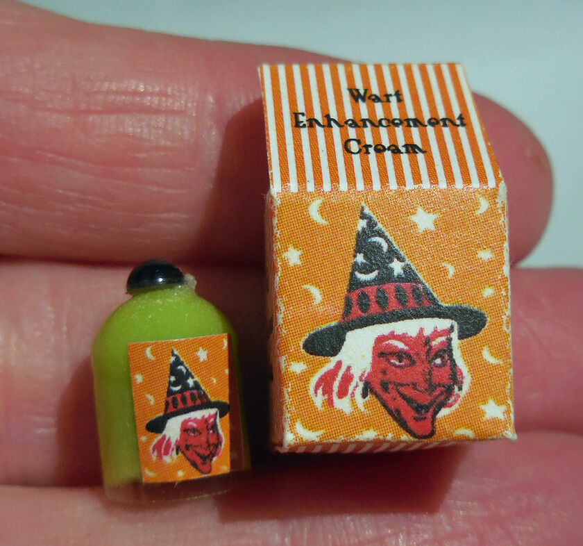 DOLLHOUSE MINIATURE ~ HALLOWEEN ~ WITCH'S WART ENHANCEMENT CREAM