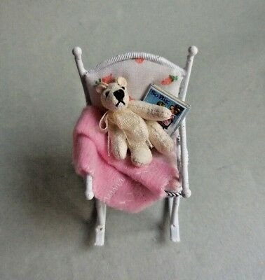 CHILDREN'S ROCKING CHAIR WITH TEDDY BEAR