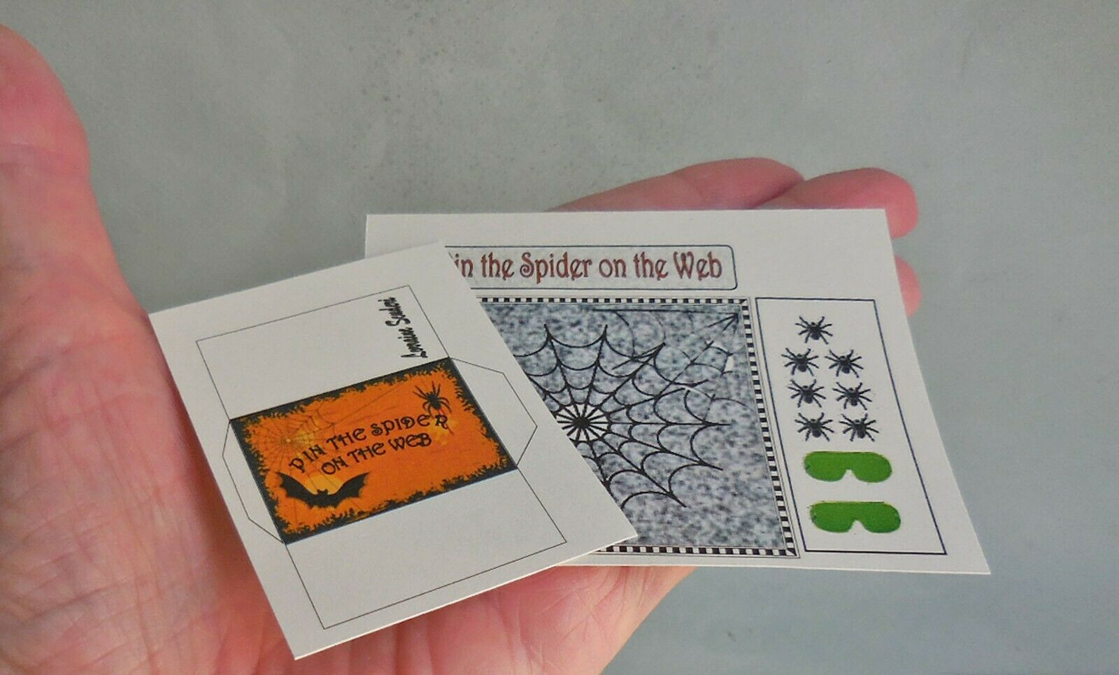PIN THE SPIDER ON THE WEB GAME KIT