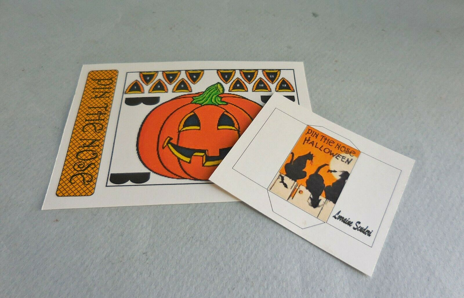 PIN THE NOSE ON THE PUMPKIN GAME KIT