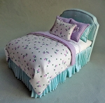 LAVENDER TULIPS TWIN BED