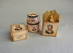 LADY'S FRENCH FASHION HAT BOXES & SHOPPING BAG KIT