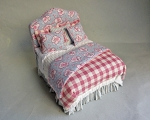 COUNTRY FRENCH BLUE AND PINK BED
