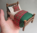 PLAID CEDAR TWIG BED