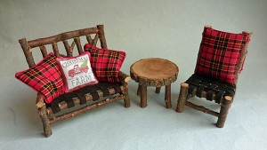 COUNTRY CHRISTMAS SOFA SET
