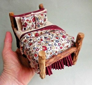 COUNTRY FLOWERS ADIRONDACK LOG BED
